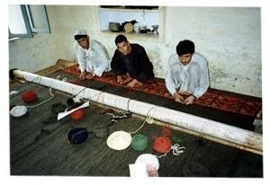 Weavers at the Ersari Turkman Cultural Project - Kamalpur, Pakistan